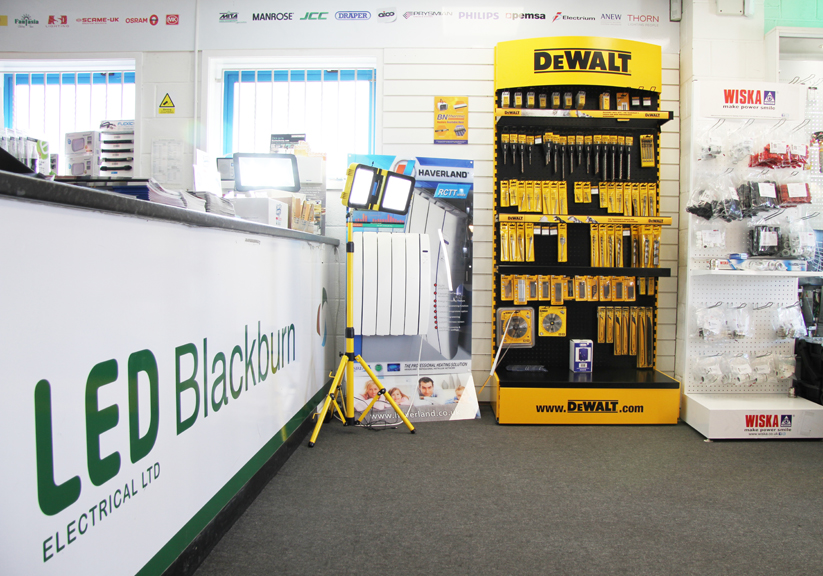 LED Blackburn Trade Counter